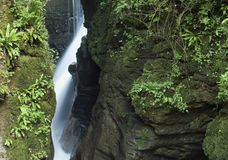 Waterfall in canyon Stock Photography