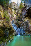Waterfall in the canyon Royalty Free Stock Image