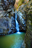 Waterfall in the canyon Royalty Free Stock Photography