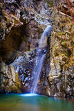 Waterfall in the canyon Stock Photo