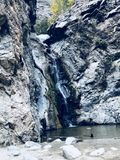 Waterfall in canyon royalty free stock photo