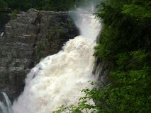 Waterfall in Canyon St. Anne Park. Near Quebec City Royalty Free Stock Photos