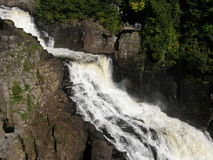 Waterfall at Canyon Ste-Anne in Quebec Royalty Free Stock Photography
