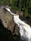 Waterfall at Canyon Ste-Anne in Quebec. Canada Royalty Free Stock Images