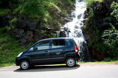 Waterfall Car Stock Photography