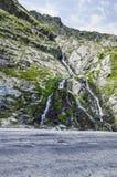 Waterfall in Carpathian Mountain Stock Image