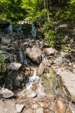 Waterfall in the Carpathian mountains Royalty Free Stock Image