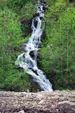 Waterfall in the Carpathian Mountains Royalty Free Stock Photography