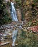 Waterfall in Carpathians Royalty Free Stock Photos