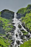 Waterfall in Carpathians mountains Royalty Free Stock Image