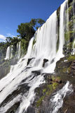 Waterfall cascade closeup Iguazu Royalty Free Stock Photos