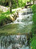 Waterfall cascade in deep forest Royalty Free Stock Photo