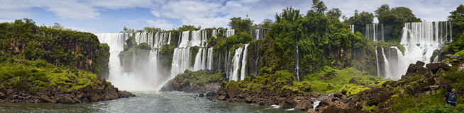 Waterfall cascade. San Marti in Iguasu Stock Photo