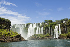 The Waterfall cascade. San Marti in Iguasu Stock Photos