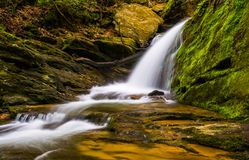 Waterfall and cascades on a stream in Holtwood, Pennsylvania. Stock Photography