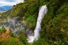 Waterfall Cascata Delle Marmore Terni Stock Photo