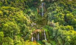 Waterfall Cascata Delle Marmore Terni Royalty Free Stock Photography