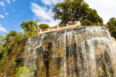 Castle Hill in Nice, France. Waterfall on the Castle Hill in Nice, France stock photography