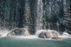 Waterfall on the Castle hill. stock photo