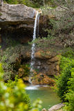 Waterfall in Catalonia surrounded by beautiful forests Royalty Free Stock Photos