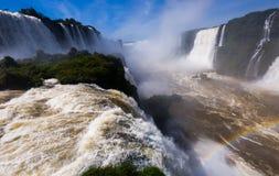 Waterfall Cataratas Del Iguazu auf Iguazu-Fluss, Brasilien Stockbild
