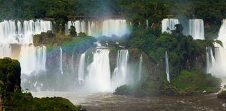 Waterfall Cataratas del Iguazu on Iguazu River, Brazil Royalty Free Stock Image