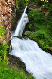 Waterfall of Cavalese. Val di Fiemme,Italy Royalty Free Stock Photography