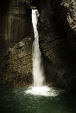 Waterfall in a cave Stock Photography