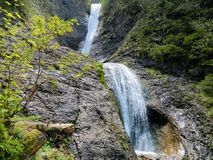 Waterfall. In Ceahlau Mountains Romania Stock Photography