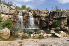Waterfall in the Cederberg Mountains Royalty Free Stock Images