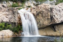 Waterfall in the Cederberg Mountains Stock Image