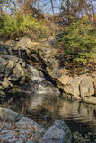 Waterfall in Central Park Stock Images