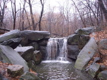 Waterfall in Central Park, New York. Royalty Free Stock Photos