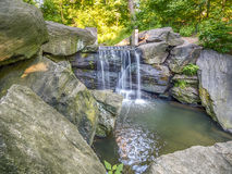 Waterfall in Central Park Royalty Free Stock Image