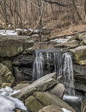 Waterfall in Central Park Stock Photo