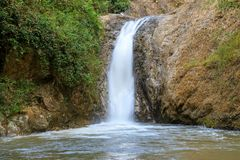 Waterfall in Chae Son National Park, Lampang, Thailand.  stock photography
