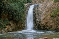 Waterfall in Chae Son National Park, Lampang, Thailand.  stock photos