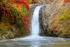Waterfall in Chae Son National Park, Lampang, Thailand.  stock photo