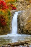 Waterfall in Chae Son National Park, Lampang, Thailand.  royalty free stock image