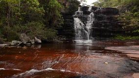 Waterfall in Chapada Diamantina, Brazil. Waterfall in Pati Valley in National Park of Chapada Diamantina. Bahia state, Brazil stock video