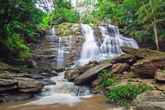 Waterfall. In Chiang Mai National Park Stock Images