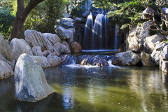 Waterfall china garden Stock Image