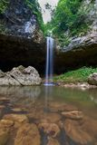 Waterfall in the mountains of the North Caucasus. Waterfall Chinarsky. Royalty Free Stock Images