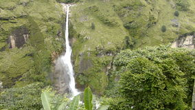 Waterfall. In Chyamche village - Annapurna Circuit trek in Nepal