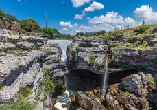 Waterfall Cijevna in the rocks. Podgorica, Montenegro Royalty Free Stock Images