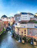 Waterfall in the City of Saarburg Royalty Free Stock Images