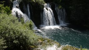 Waterfall with clean and fresh water stock footage