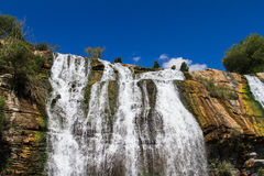 Waterfall on Clear Sky Stock Photo