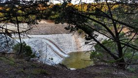 Park waterfall. Waterfall at Cleburne state park texas Royalty Free Stock Photo