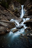 Waterfall on cliff Royalty Free Stock Images